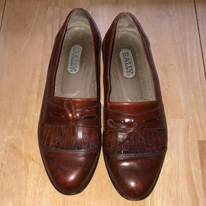 BALLY MENS BROWN LEATHER LOAFER